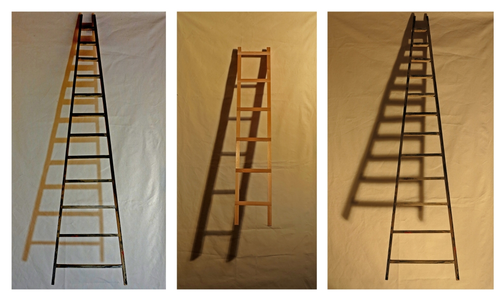 This Means-Scale Model Ladder Shadow Montage